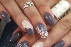 Uñas con flores 1