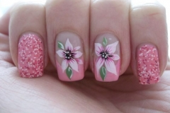 Uñas con flores 7