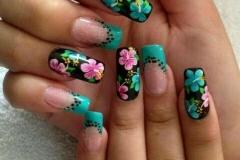 Uñas con flores 8